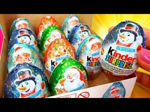 KINDER SURPRISE EGGS Xmass unwrap surprise eggs video