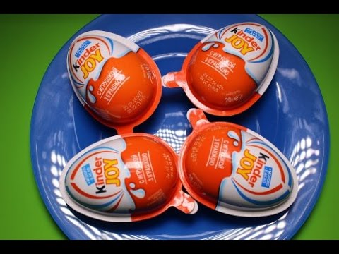 4 Surprise eggs kinder Joy Киндер сюрприз