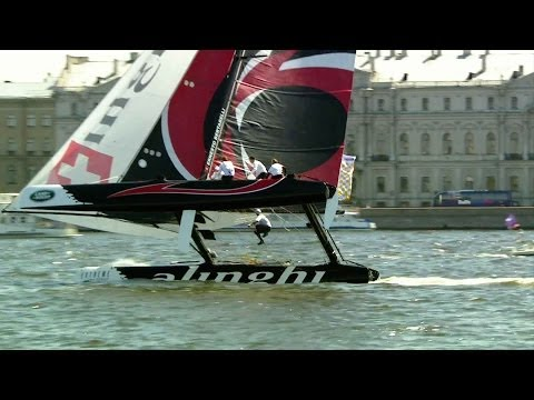 Extreme Sailing competition in St. Petersberg