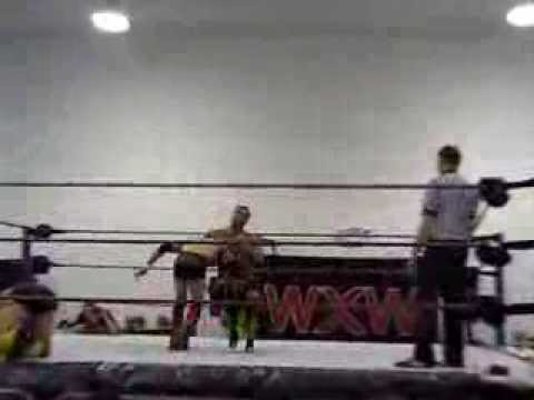 Perfect Sell of a DDT by Mike Crux at World Xtreme Wrestling