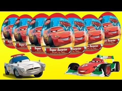 Surprise Eggs, Kinder Surprise Cars 2, Disney Pixar