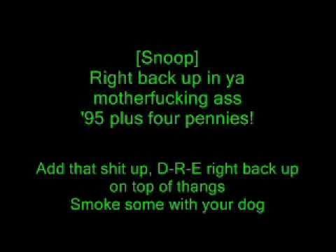 Dr. Dre feat. Snoop Dogg - Still Dre (Lyrics)