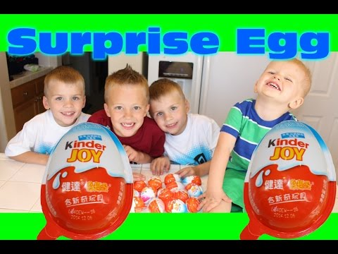 Kinder Surprise Eggs for Boys!