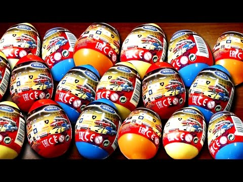 20 Surprise eggs Kinder Surprise Cars Welly