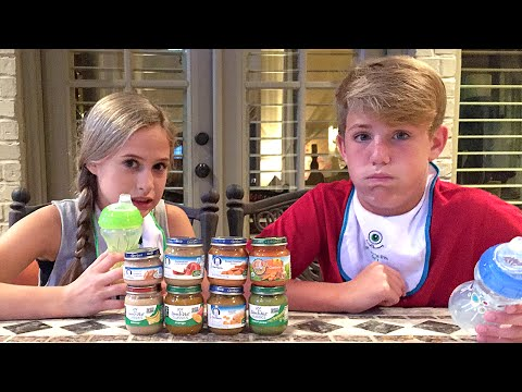 The Baby Food Challenge (MattyB vs Liv)