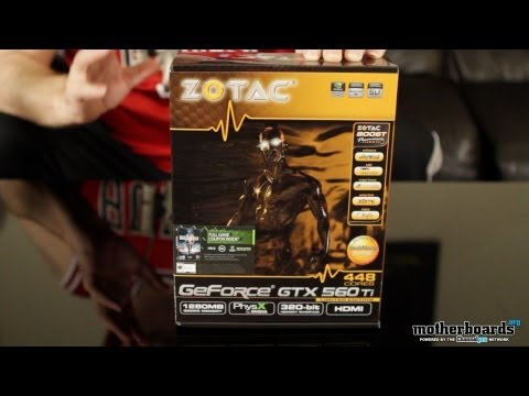 Zotac GeForce GTX 560 Ti 448 Core Limited Edtion Video Card Unboxing
